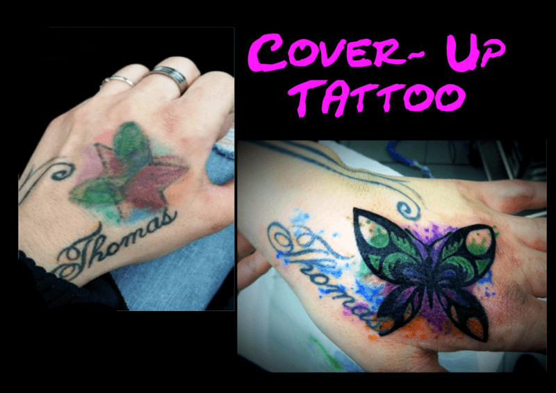 Cover - Up Watercolur Schmetterling